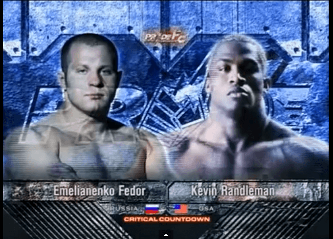 Fedor Emelianenko vs Kevin Randleman.