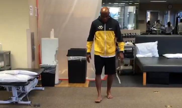 Anderson walking.