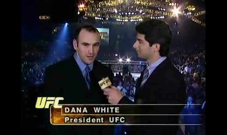 Dana white UFC president interviewed at UFC 1.