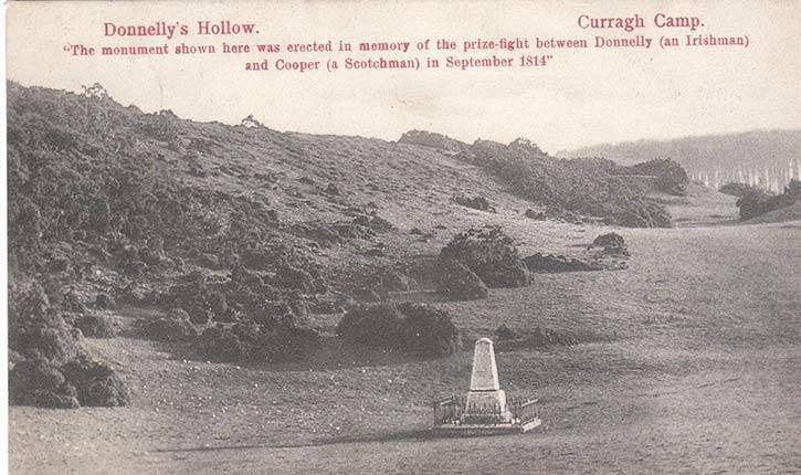 Donnelly's Hollow postcard showing Curragh Kildare.