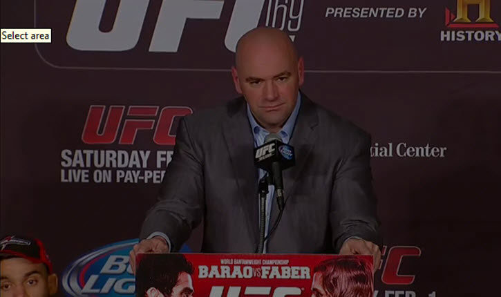 UFC 169 press conference.