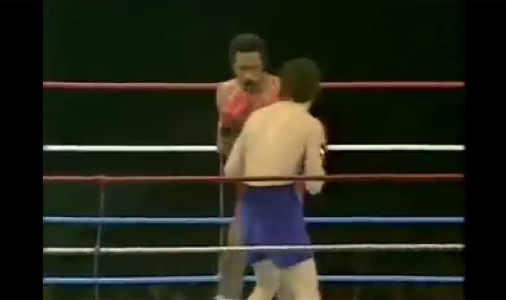Barry McGuigan against Eusebio Pedroza boxing.