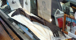 Dan Donnelly's arm on display in museum.