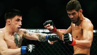 Leonardo Santos And Norman Parke Fighting In Brazil.