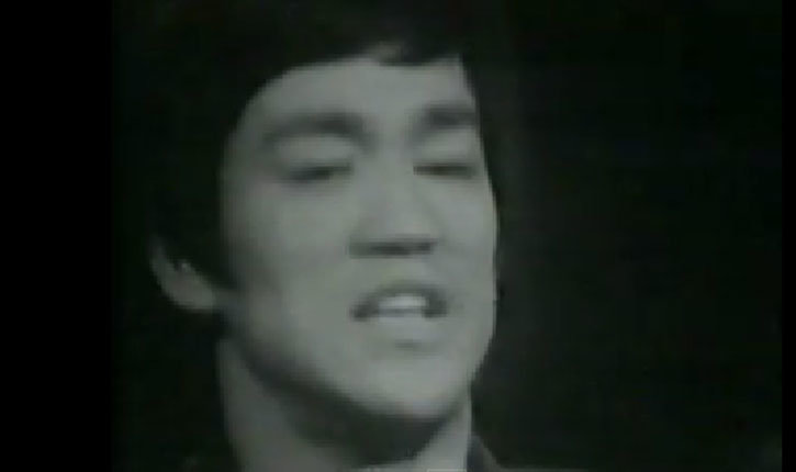 Bruce Lee being interviewed.