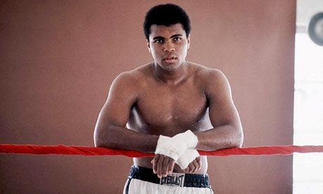 1970 Muhammad Ali Posing Inside The Boxing Ring.