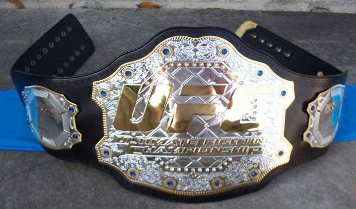 Interim Ufc Title Belt On A Table.