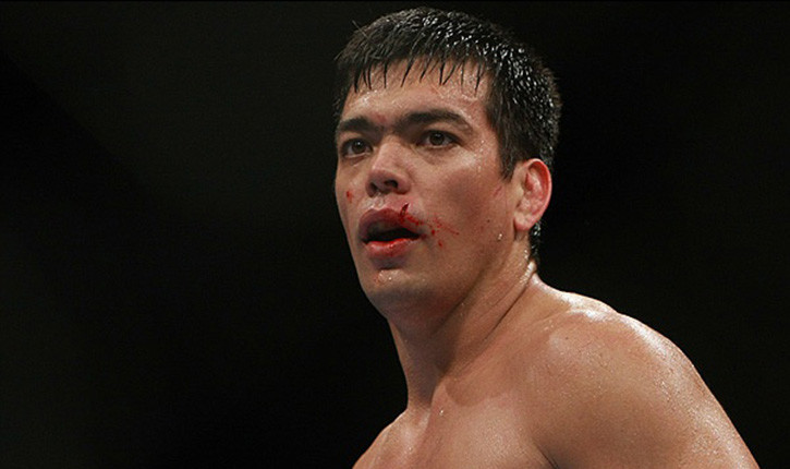 UFC light heavyweight Lyoto Machida in the Octagon.