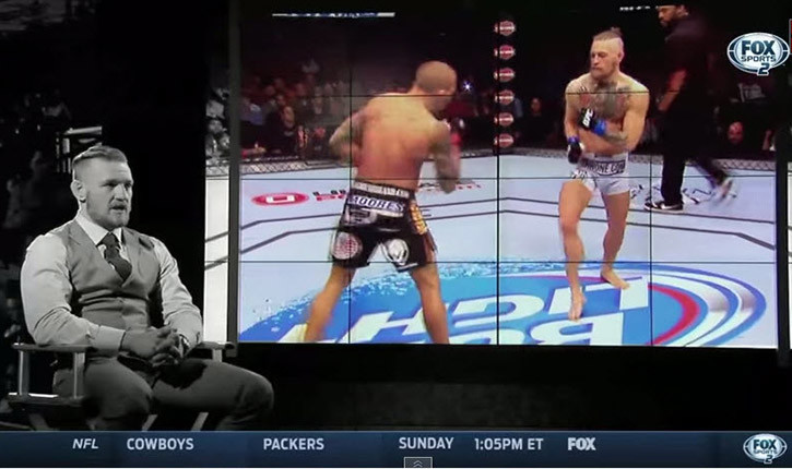 Conor McGregor making a case in interview.