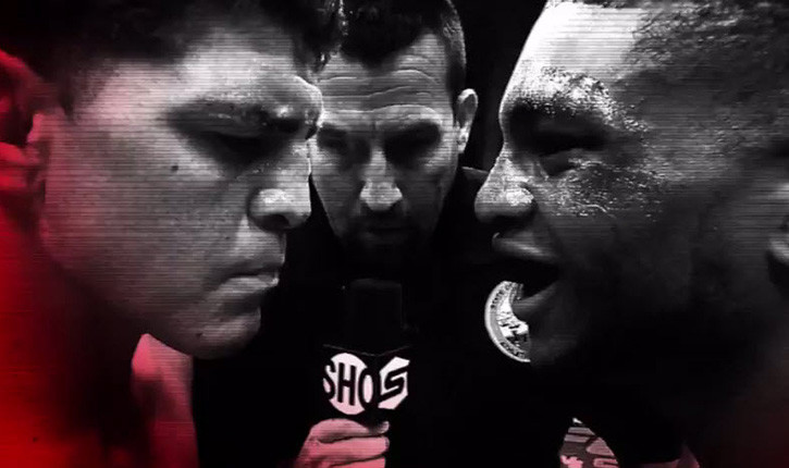 UFC 183 Inside the octagon.