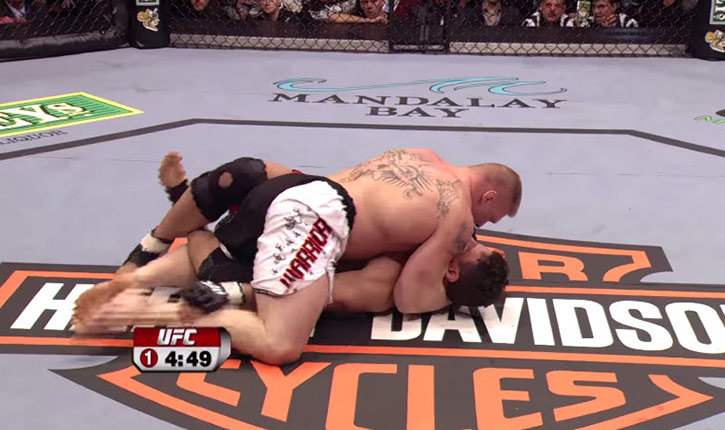 Frank Mir Against Brock Lesnar Ufc 81 Inside The Octagon Photo.