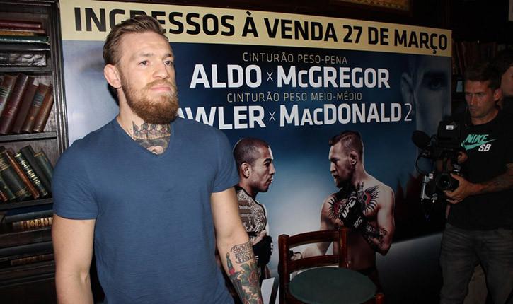 Conor McGregor UFC 189 media day Rio.