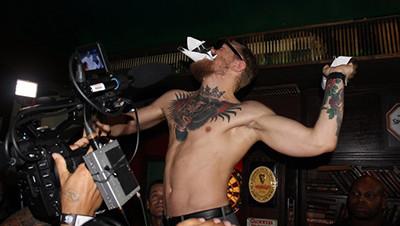 Conor Mcgregor In Shenanigans Bar Rio.