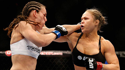 Ronda Rousey Against Alexis Davis In The Ufc.