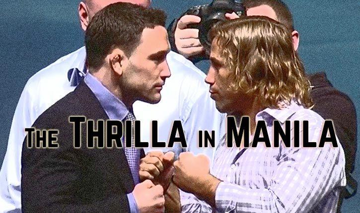 UFC Manila Frankie Edgar vs Urijah Faber.