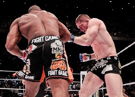 Alistair Overeem Knocking Out Todd Duffee K-1 Dynamite.