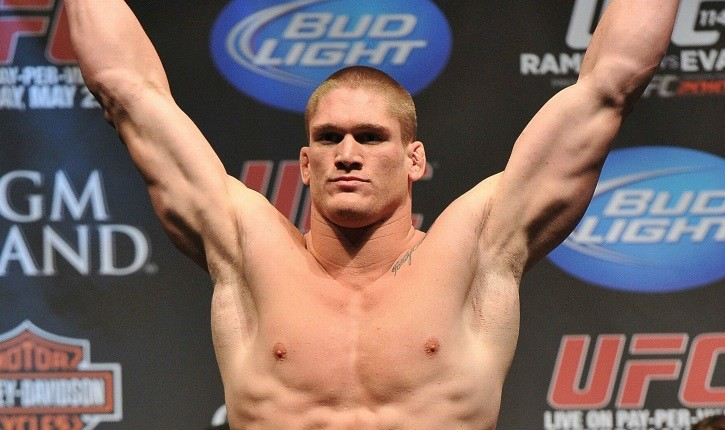 Todd Duffee On The Scales Weighting In At The Ufc.