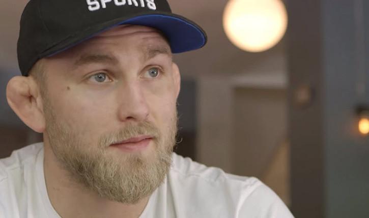Alexander Gustafsson faces Daniel Cormier interview.