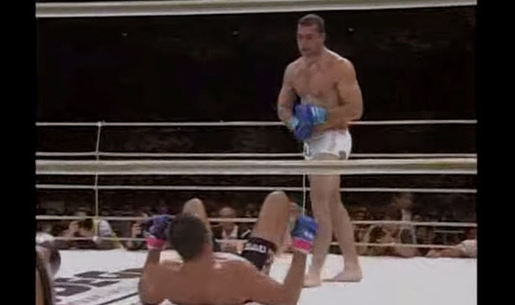 Mauricio Shogun Rua fighting at Pride 2005.