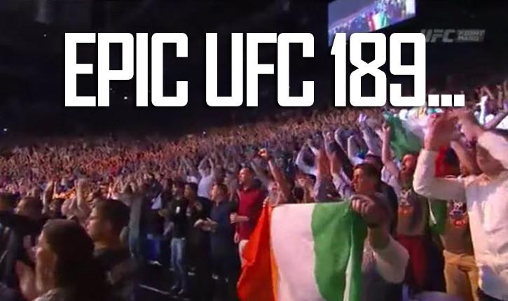 UFC 189 an epic night of vegas action..