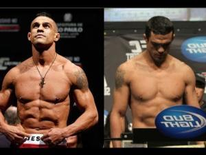 Vitor Belfort UFC middleweight on the scales.