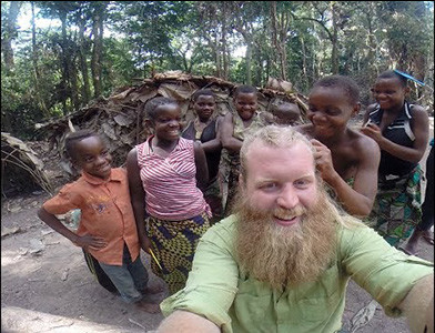 Justin wren working in the congo.