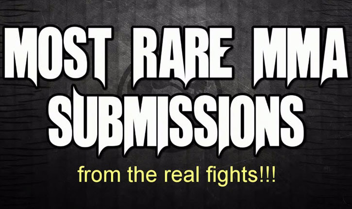 Rare mma submissions top 20.