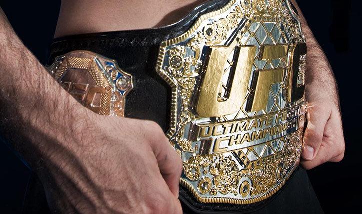 UFC Interim championship belt.