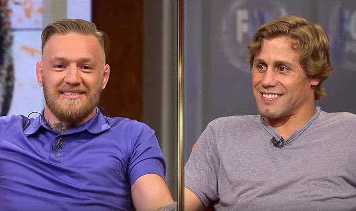Conor mcgregor and Uriah Faber UFC on fox interview.