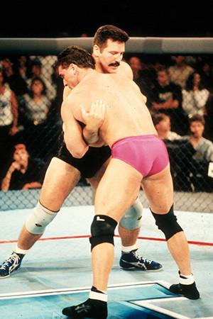 Ken Shamrock UFC and Dan Severn inside the UFC octagon.