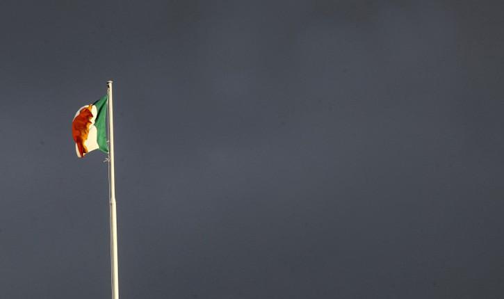 UFC Dublin Irish flag over capital.