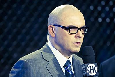 Mauro Ranallo color commentator at MMA event.