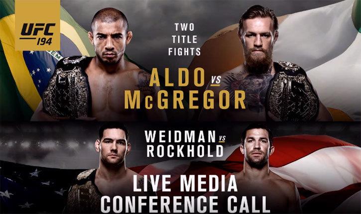 UFC 194 Aldo vs McGregor Media Conference Call.
