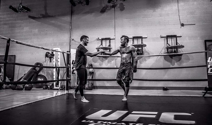 Conor mcgregor and coach john kavanagh.