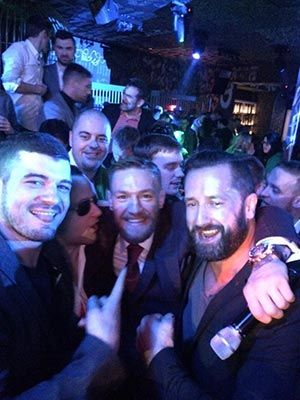 Hanging with Conor Mcgregor at afterparty.