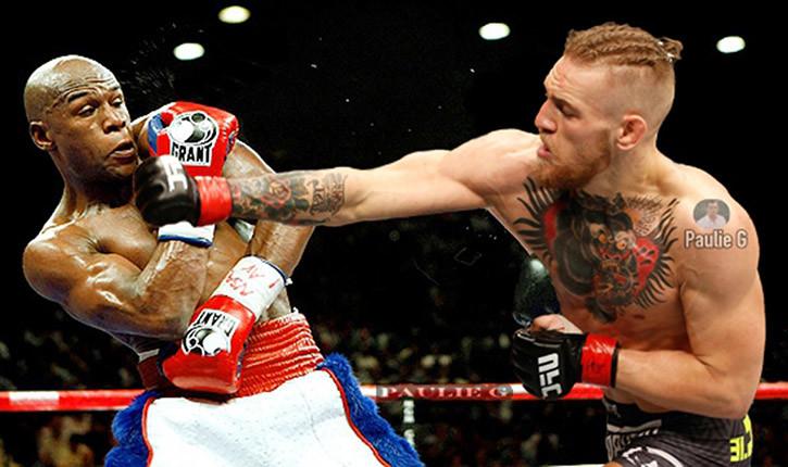 Floyd mayweather against conor mcgregor.