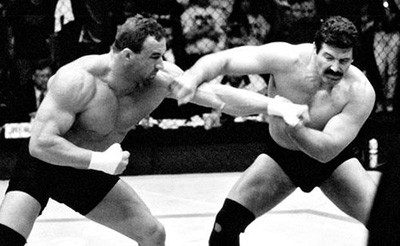 Mark Coleman hits Dan Severn UFC fight.