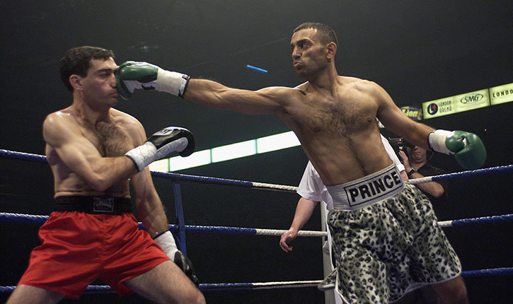 Prince Naseem Hamed featherweight boxer.