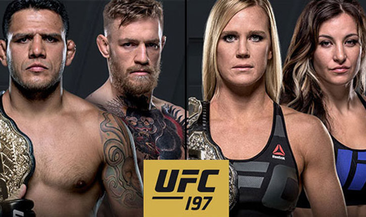 UFC197 Conor McGregor and holly Holm.