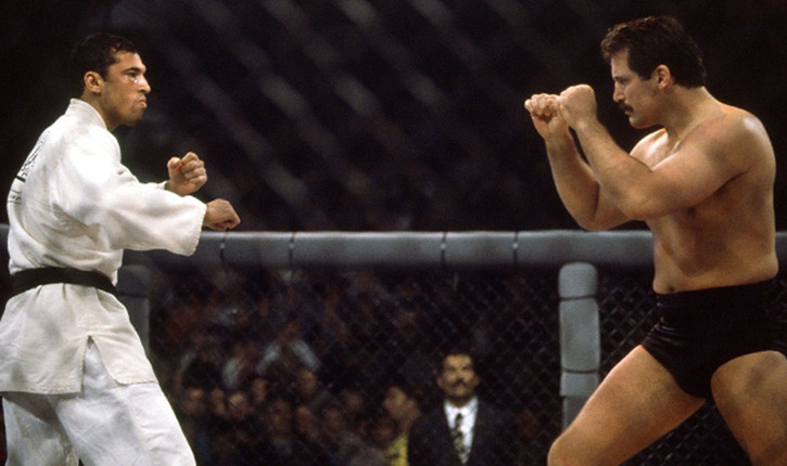Dan severn against Royce Gracie ufc 5.