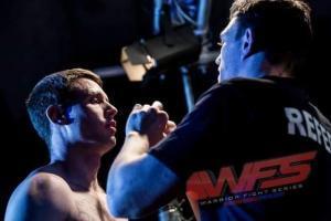 Irish MMA amateur Jonathan Reid cageside.