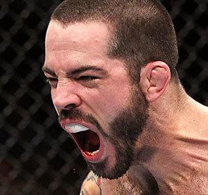 Matt brown ufc welterweight in the cage.