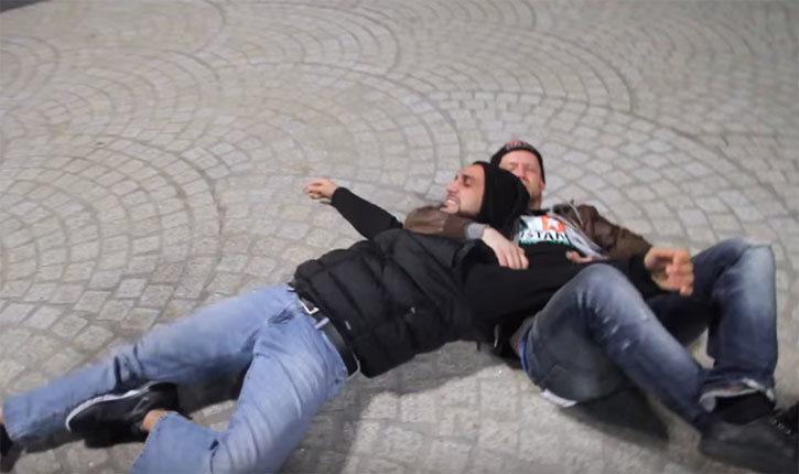 Irish Bare Knuckle Fighter Taps Out Firas zahabi.