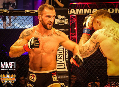 Conor Cooke Fighting At Bamma.