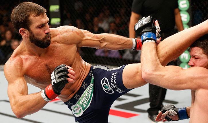 Luke Rockhold knockout kick Michael Bisping.