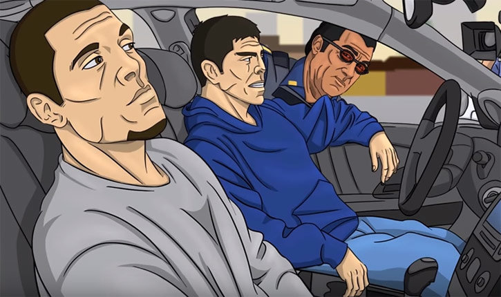Nick and Nate Diaz Get Pulled Over.