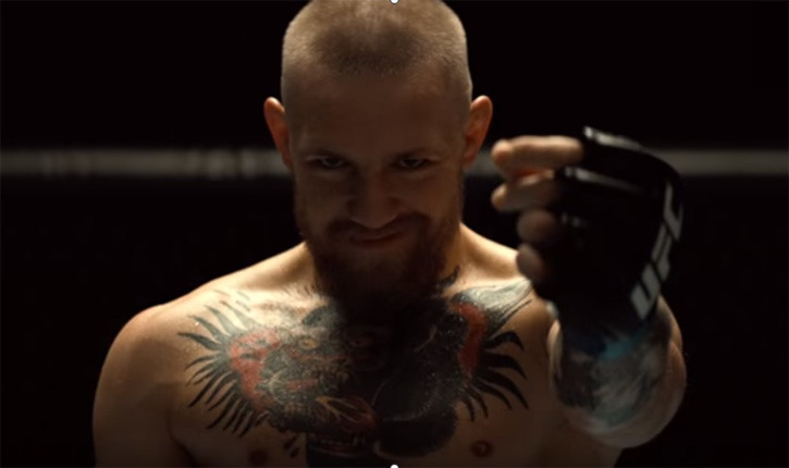 Conor McGregor vs Nate Diaz photoshoot.