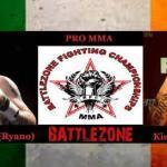 keith mccabe vs Kiefer Crosbie Battle zone 15 poster.