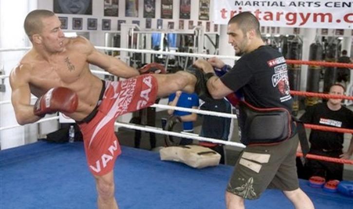 MMA motivation gsp kicking pads.