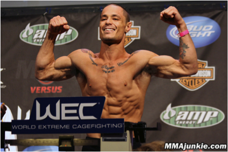 Chad George during WEC weigh-ins.